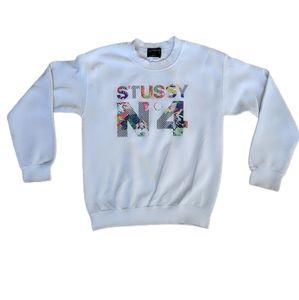 STUSSY NO 4 Vintage Crew Neck Sweatshirt